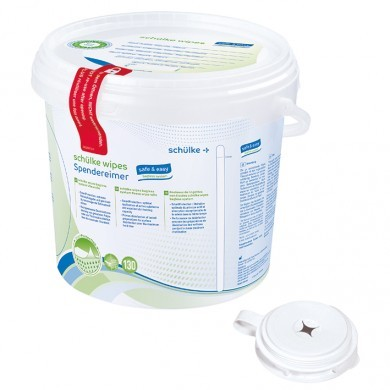 Schülke Wipes safe&easy Bagless System, 130 Tücher, 1 Stck.