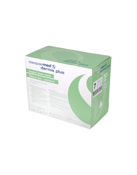 Sempermed Derma Plus Gr. 6, steril, gepudert, Latex, 50 Paar