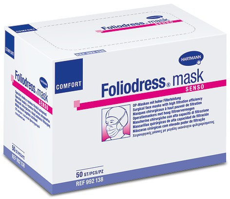 Foliodress mask Comfort Perfect OP-Masken, grün, 50 Stck.