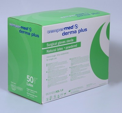 Sempermed Derma Plus Gr. 8, steril, gepudert, 50 Paar